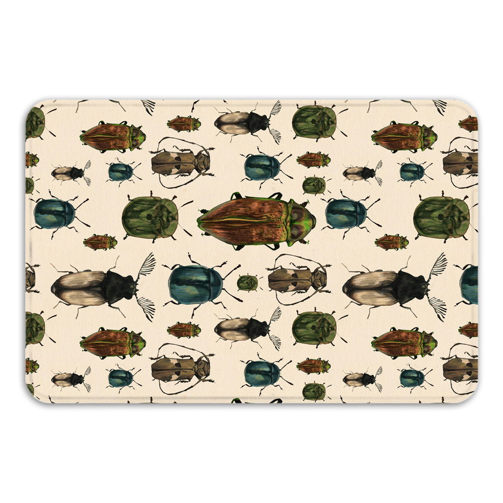 March of The Beetles Bath Mat
