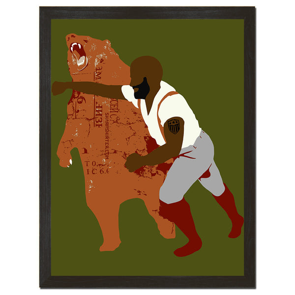 Black Bear Punch Art Print
