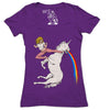 Bloodsport Barbie Women's Graphic Tee Deep V-Neck