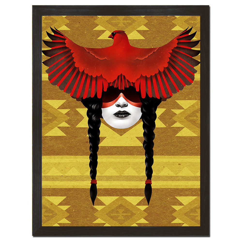 Cardinal Warrior Art Print