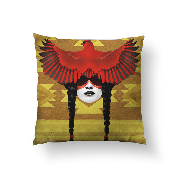 Cardinal Warrior Throw Pillow