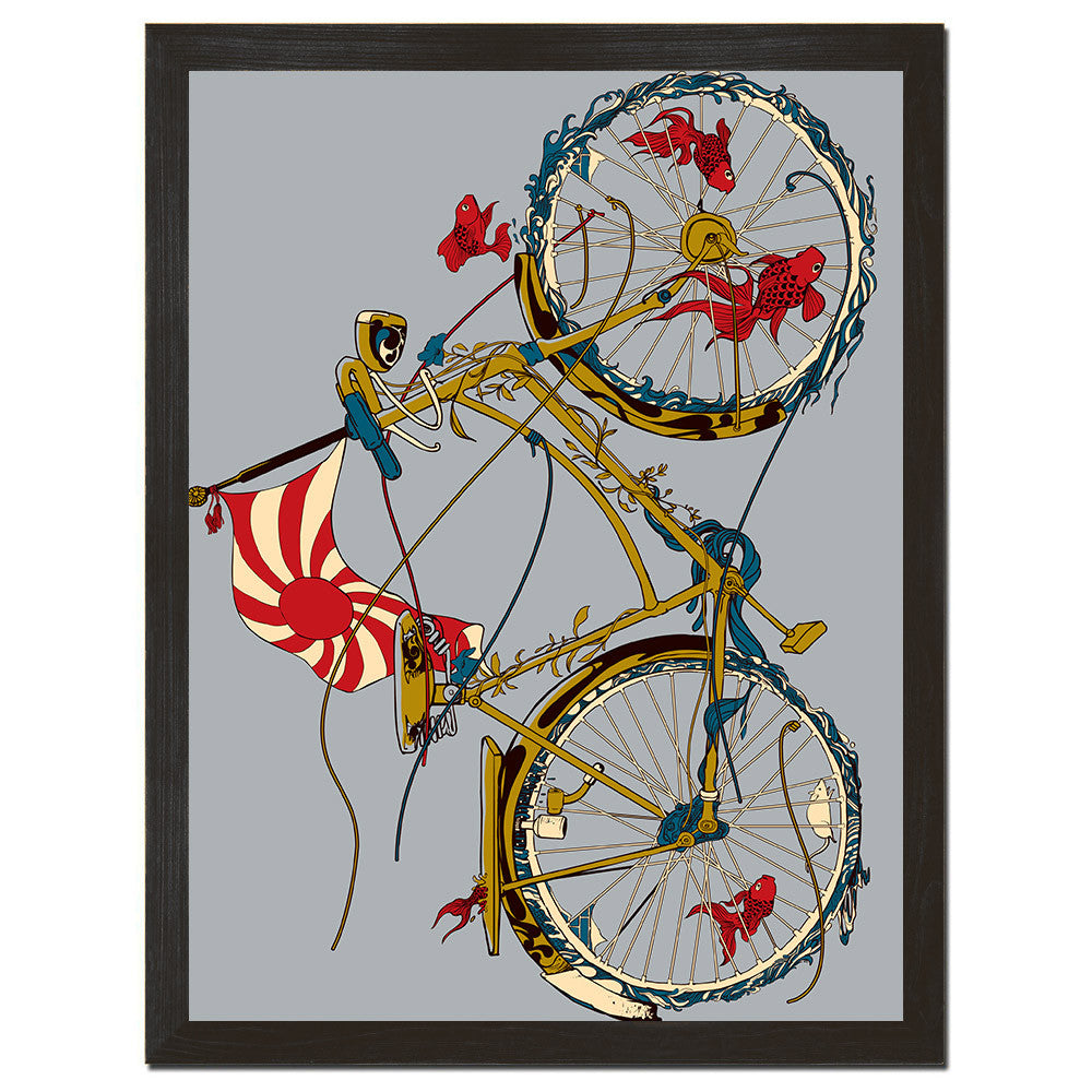 Cycling Fish Art Print