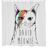 David Meowie Shower Curtain
