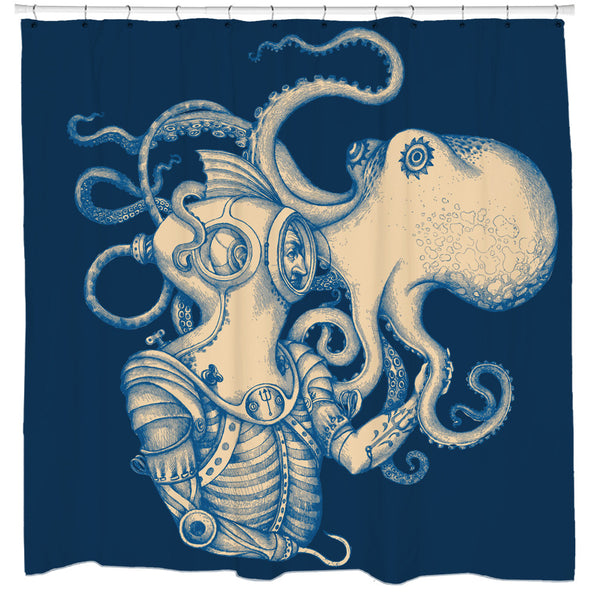 Deep Sea Discovery Shower Curtain Sharp Shirter