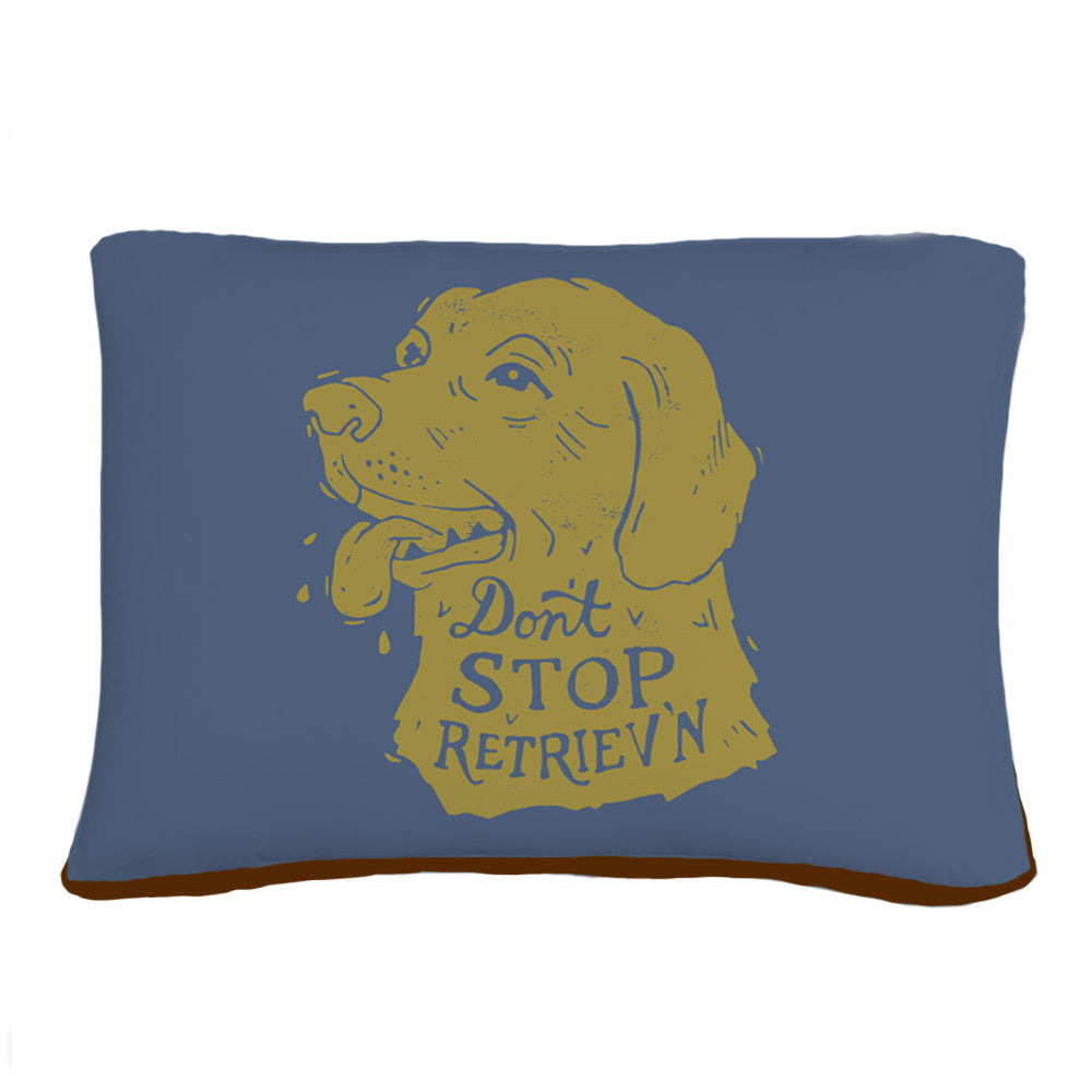 Don't Stop Retrieven Pet Bed