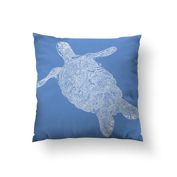 Elegant Turtle Throw Pillow
