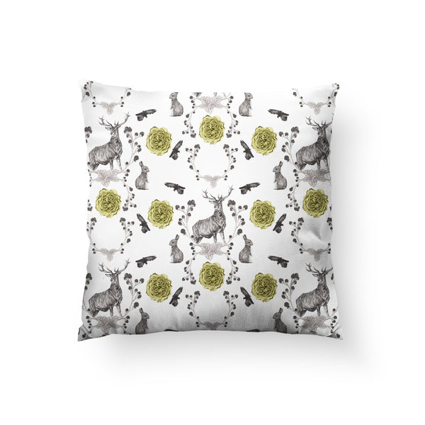 Forest Friends Throw Pillow