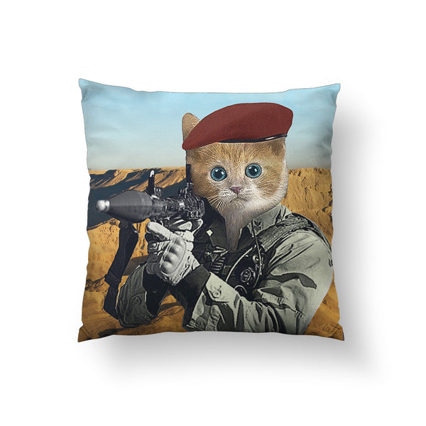 G.I. Kitty Throw Pillow
