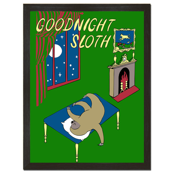 Goodnight Sloth Art Print