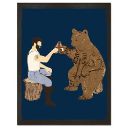 Having a Bear Art Print