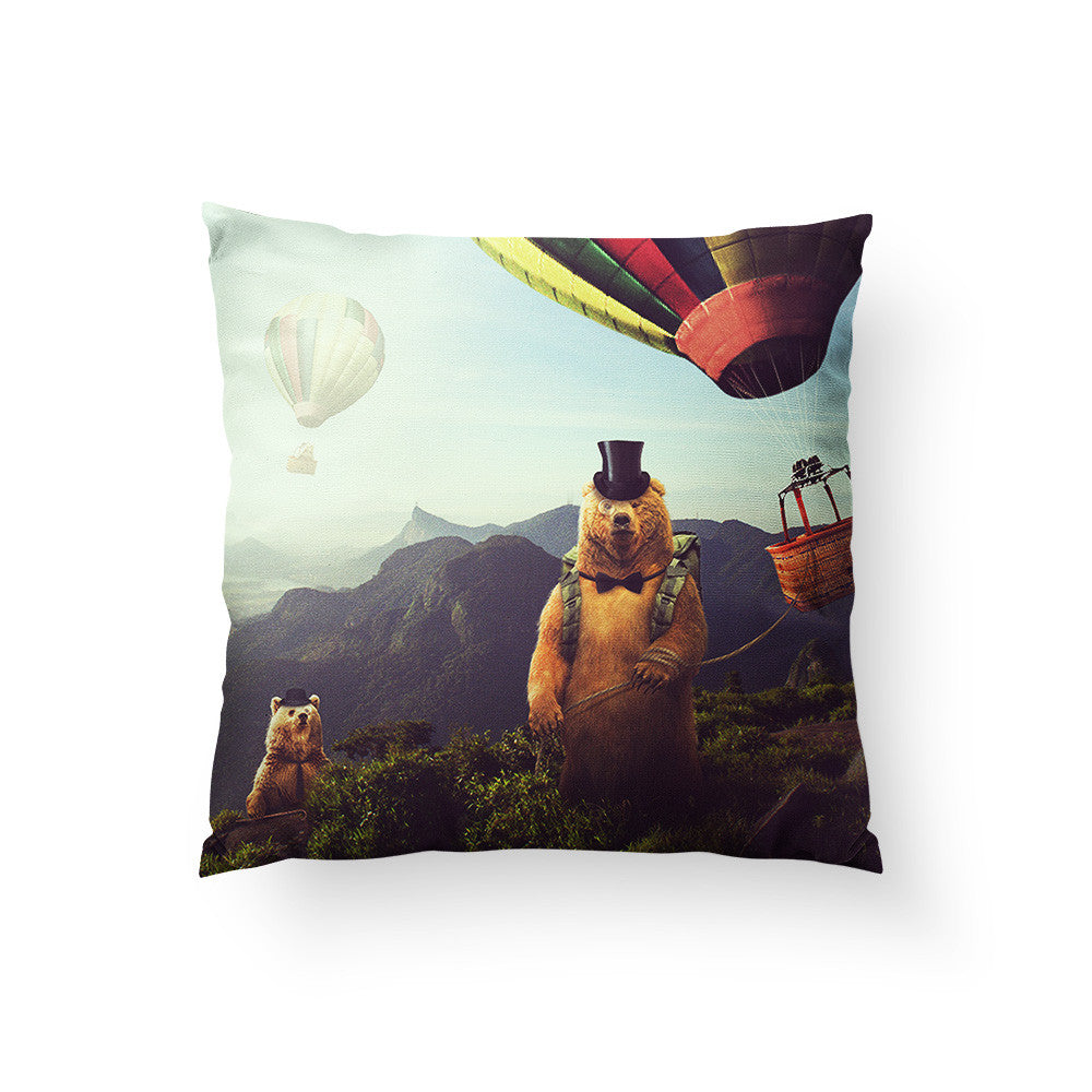 Hot Air Bearoons Throw Pillow