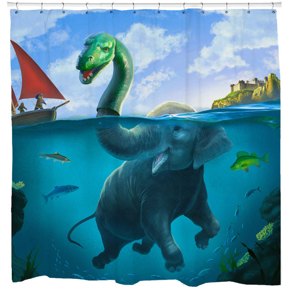 Lochness Monster Shower Curtain