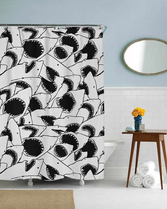 Forever Jaws Shower Curtain · Forever Jaws Shower Curtain ...
