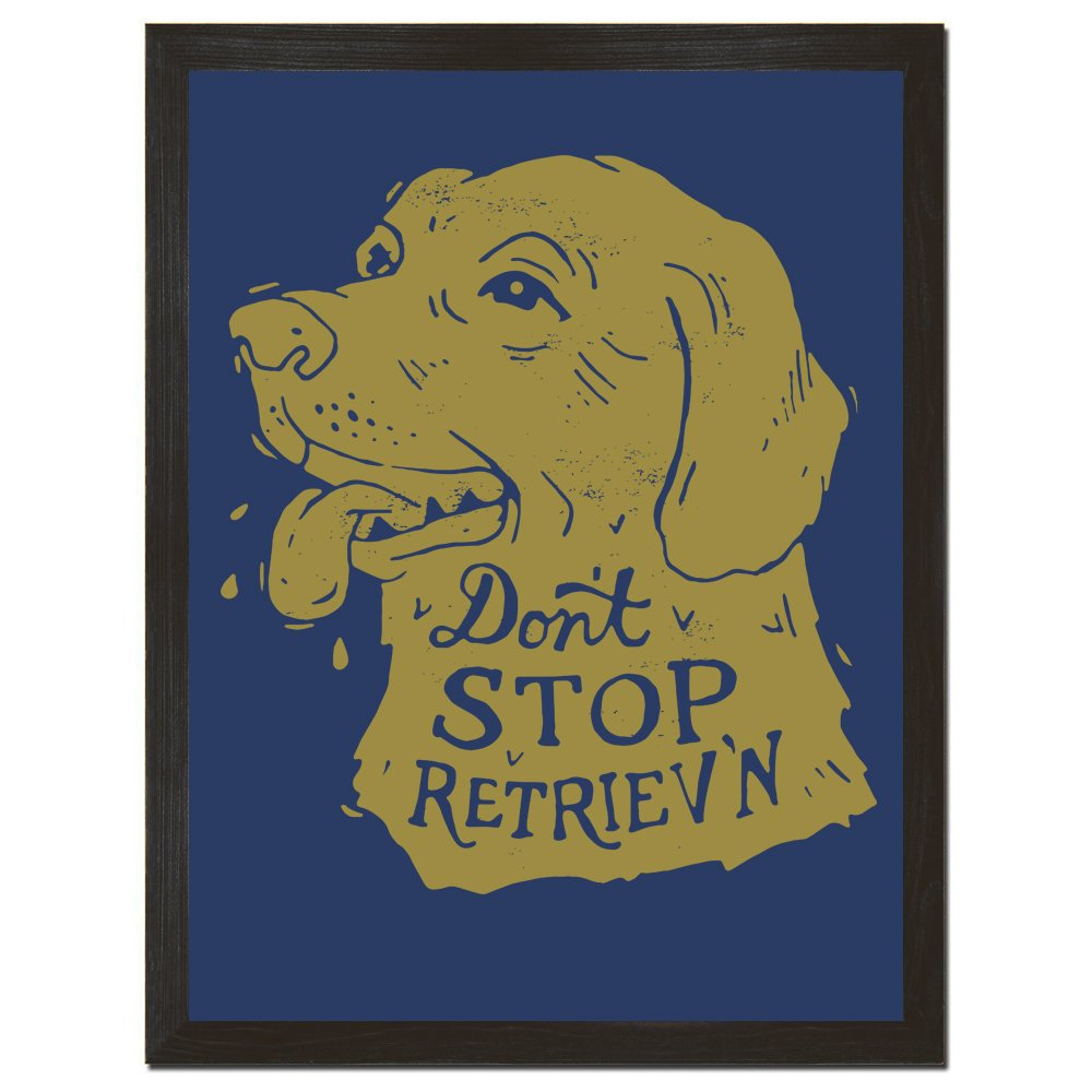 Dog Poster, Inspirational Quote, Retro Decor, Animal Print, Fun Wall ...