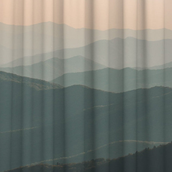 Haze Mountains Window Curtain