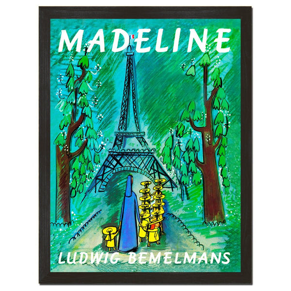 Madeline Poster, Book Print, Vintage Artwork, French Decor, Nursery Art, Movie Poster, Book Art, Eiffel tower, French Print, 8x10 or 18x24