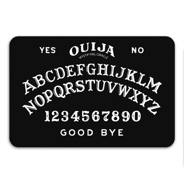 Halloween Decor, Ouija Bath Mat, Halloween Art, Black Bath Rug, Spooky Decor, Scary Mat, Black Rug, Memory Foam, Anti Slip, Large or Small