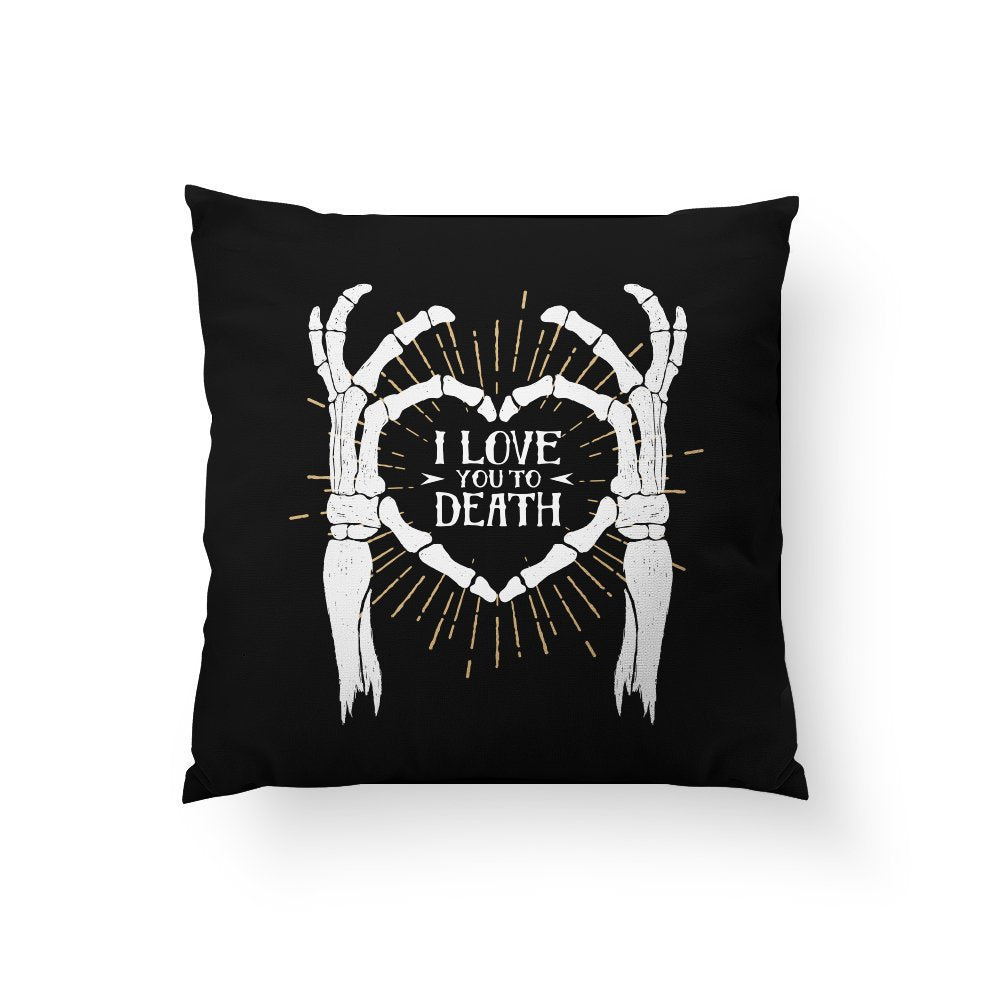 halloween cushion, skeleton heart, halloween home decor, skull