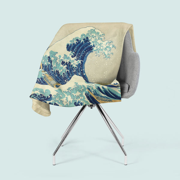 Great Wave Blanket, Beach Theme Decor, Fleece Blanket, Japanese Ocean Art, Nautical Decor, Blanket Throws, Classic Art, Famous Painting