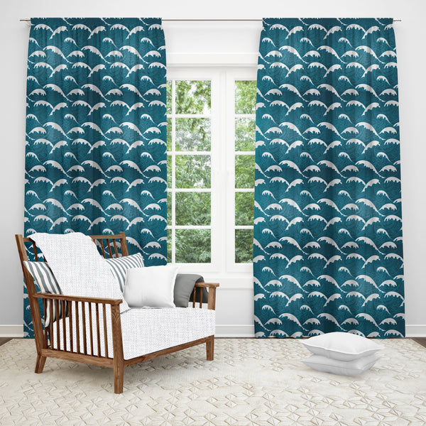 Calm Waves Window Curtain