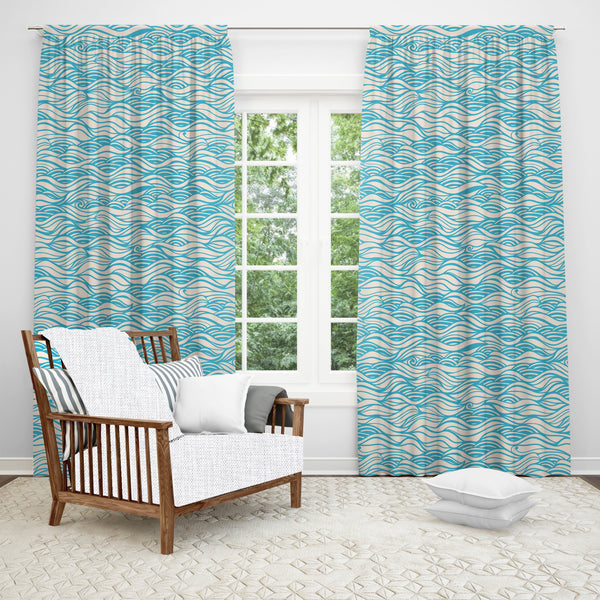 Beach Waves Window Curtain