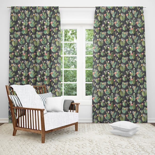 Prickly Pattern Window Curtain