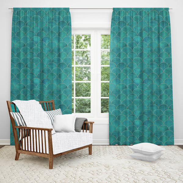 Mermaid Window Curtain