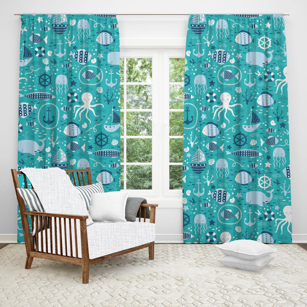 Seas the Day Window Curtain