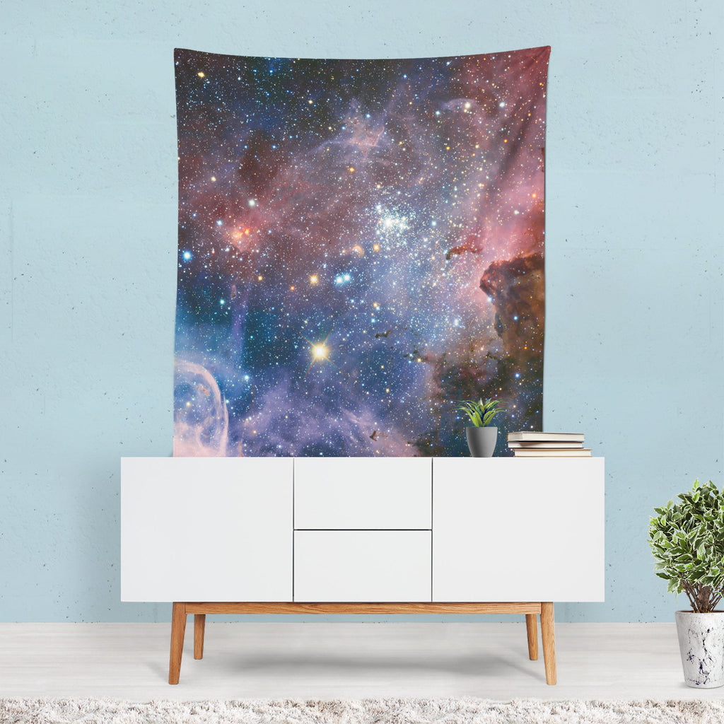 Space Wall Tapestry, Stars Planets Decor, Galaxy Tapestry, Cosmos Wall Sheet, Hippie Decor, Milky Way Hanging, Constellations Drape