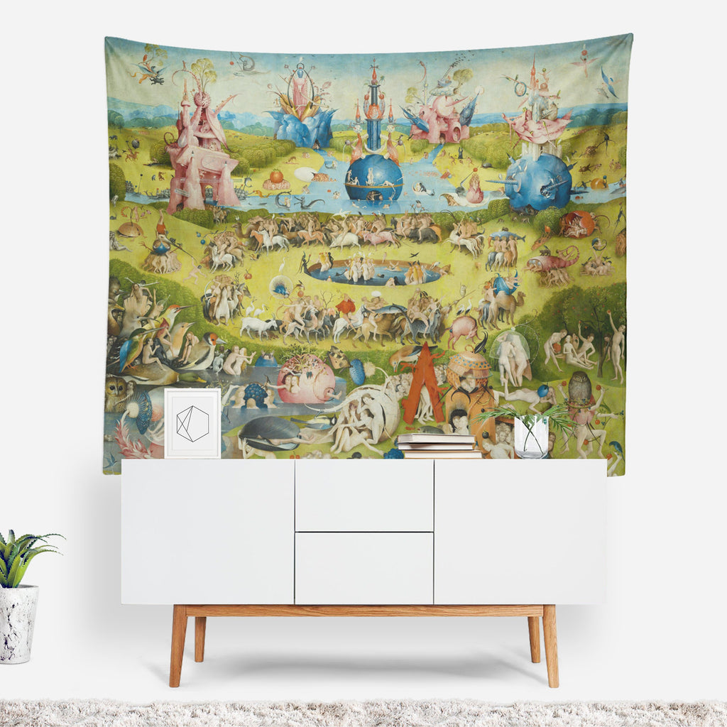 Classic Art Tapestry, Surrealist Wall Art, Renaissance Art, Famous Art Decor, Oil Painting, Medieval Decor, Garden Painting, Circus, Bosch