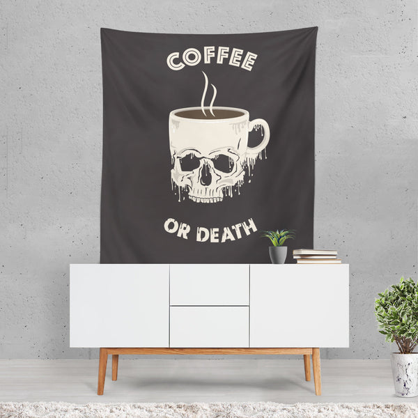 Coffee or Death Tapestry