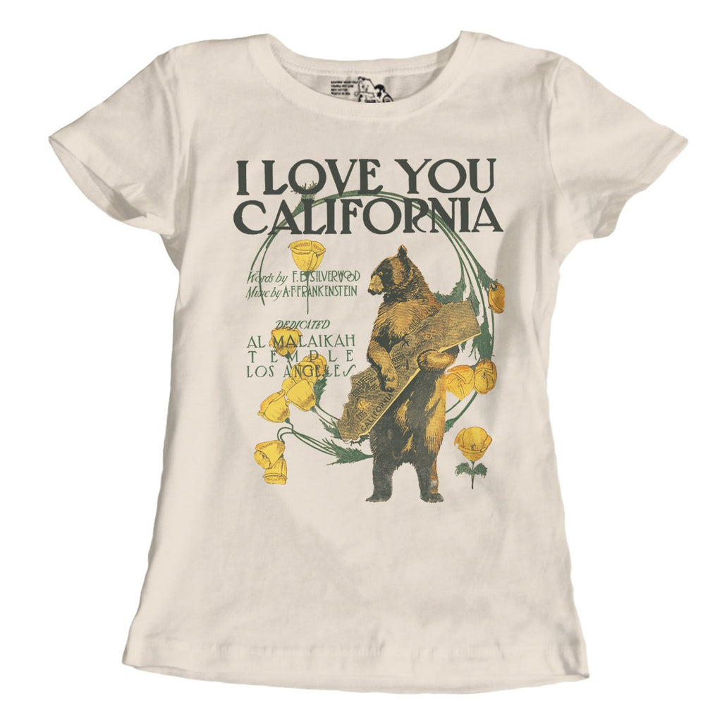 California Gifts, I Love You California T Shirt, California State Song Shirt, Fitted US State Tops, Women's Graphic Tee Crewneck S-2XL