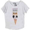 Kitty Cone Dolman Top