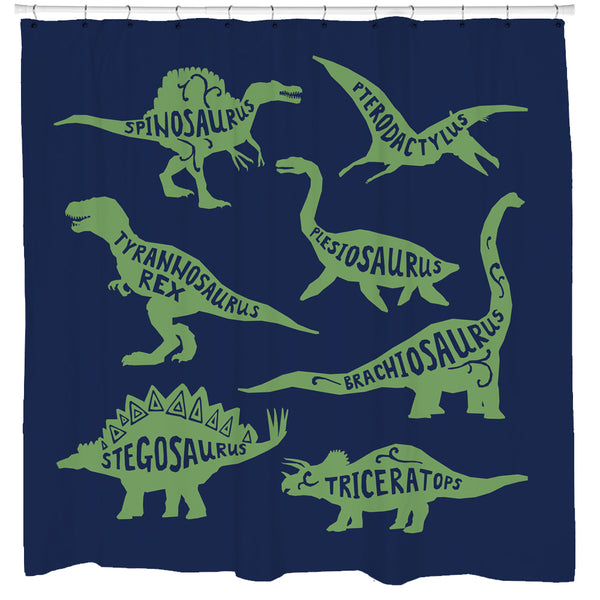 Know Your Dinos Shower Curtain