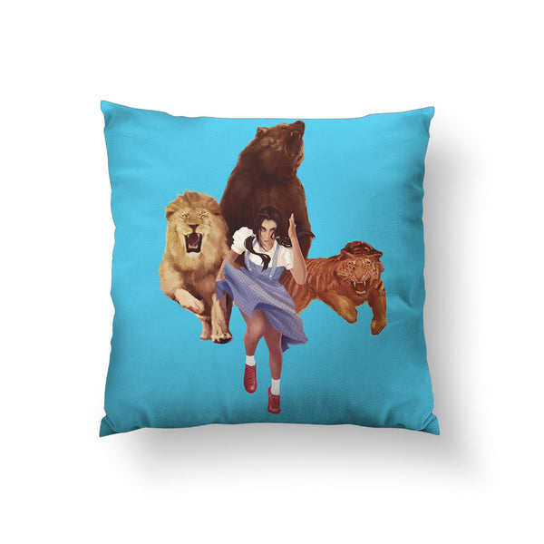 Lion Tiger Bear Throw Pillow
