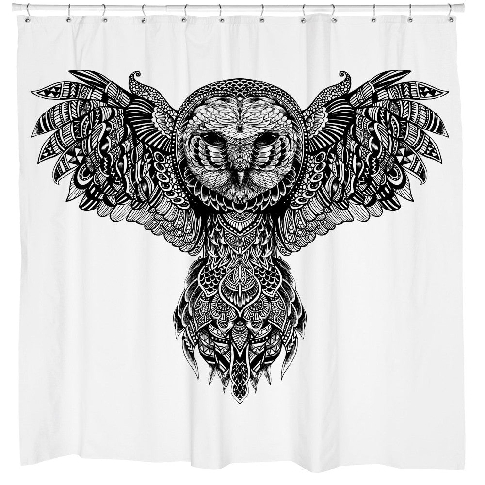 Owl shower curtains - Majestic Owl Shower Curtain