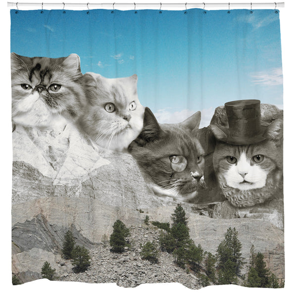 Meowmore Shower Curtain