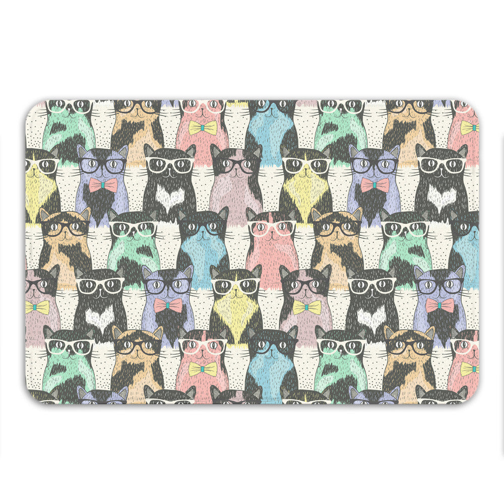 Nerdy Cats Bath Mat