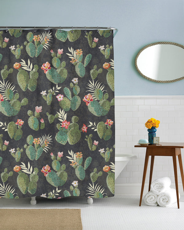 Prickly Pattern Shower Curtain