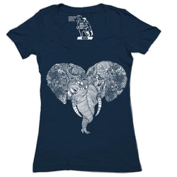Punch Trunk Love Women's Graphic Tee V-Neck