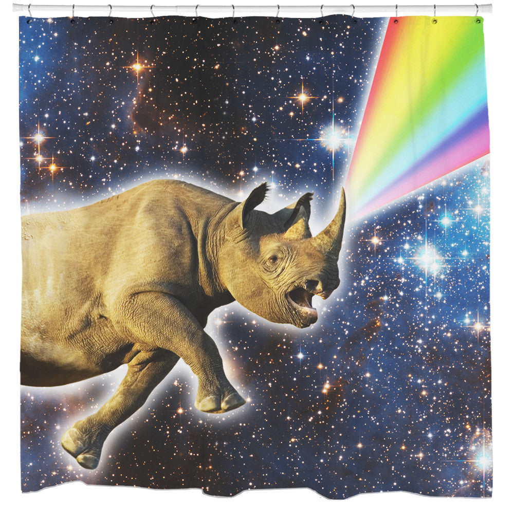 Rhinocorn Shower Curtain