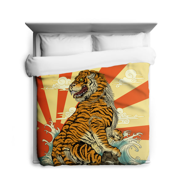 Rising Tiger Duvet Cover