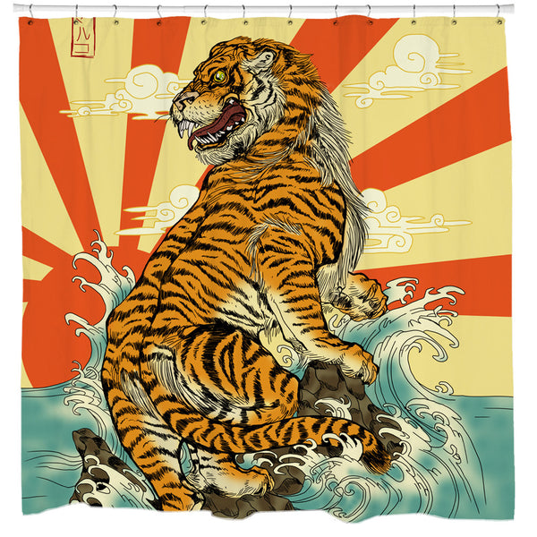 Rising Tiger Shower Curtain
