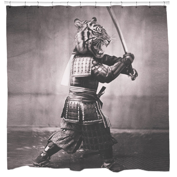Samurai Tiger Shower Curtain