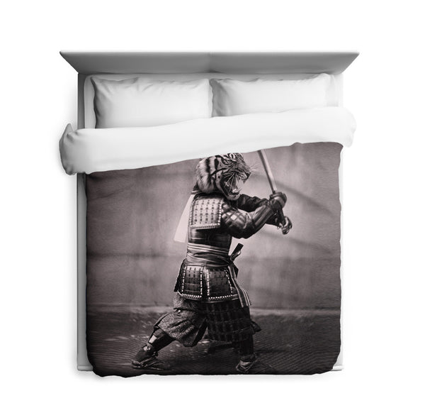 Samurai Tiger Duvet Cover