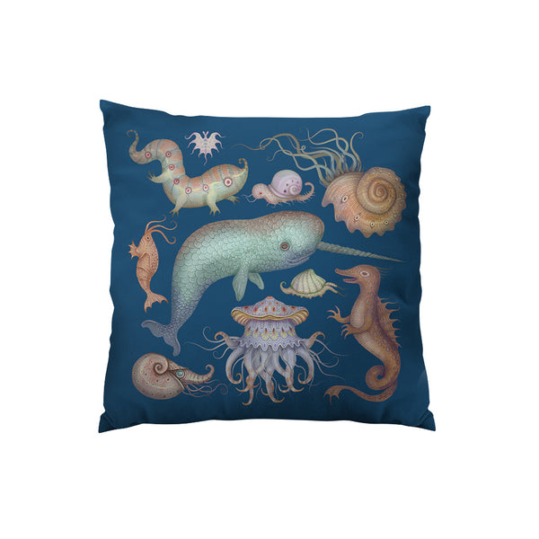Sea Creatures Throw Pillow