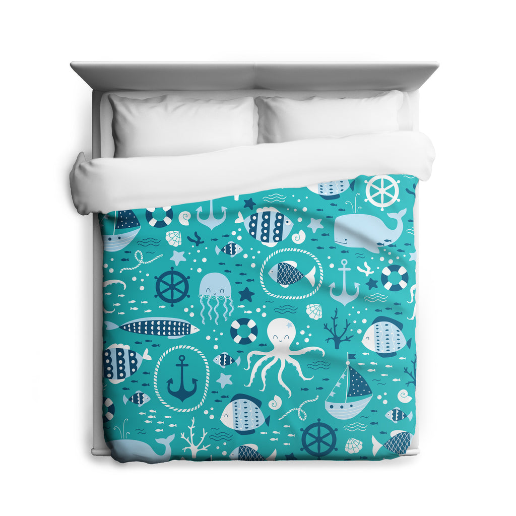 Seas The Day Duvet Cover