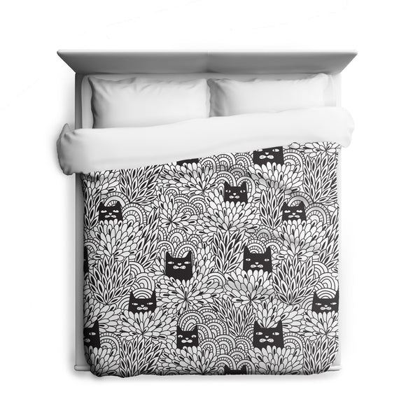 Shady Cats Duvet Cover