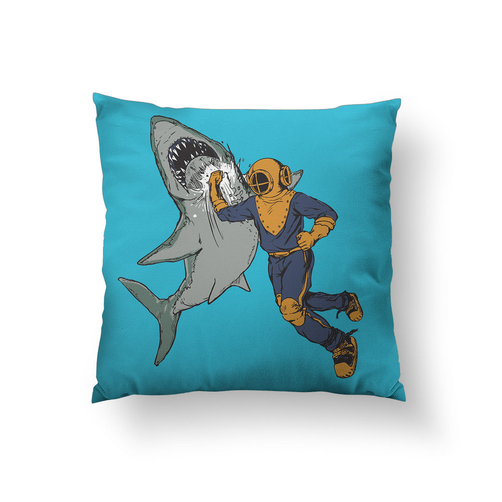 Shark Punch Throw Pillow