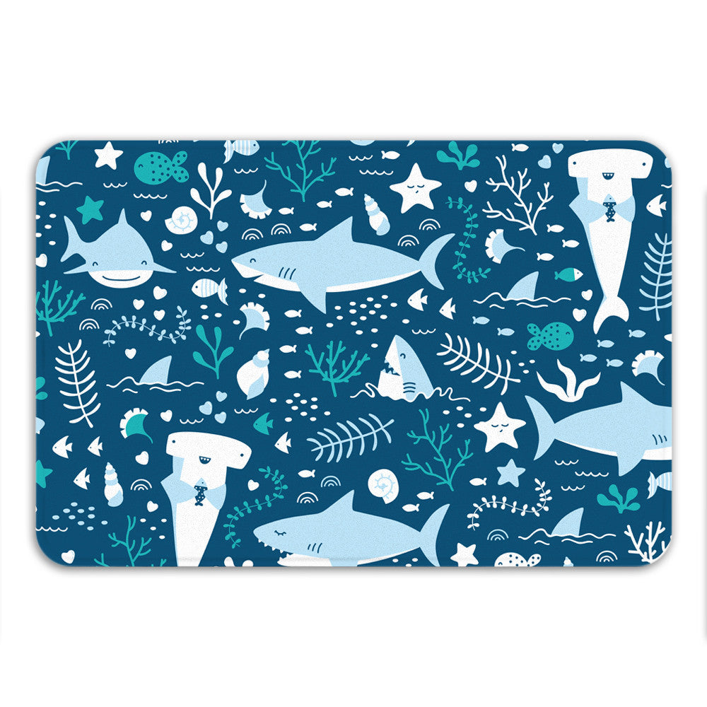 Sharks Life Bath Mat